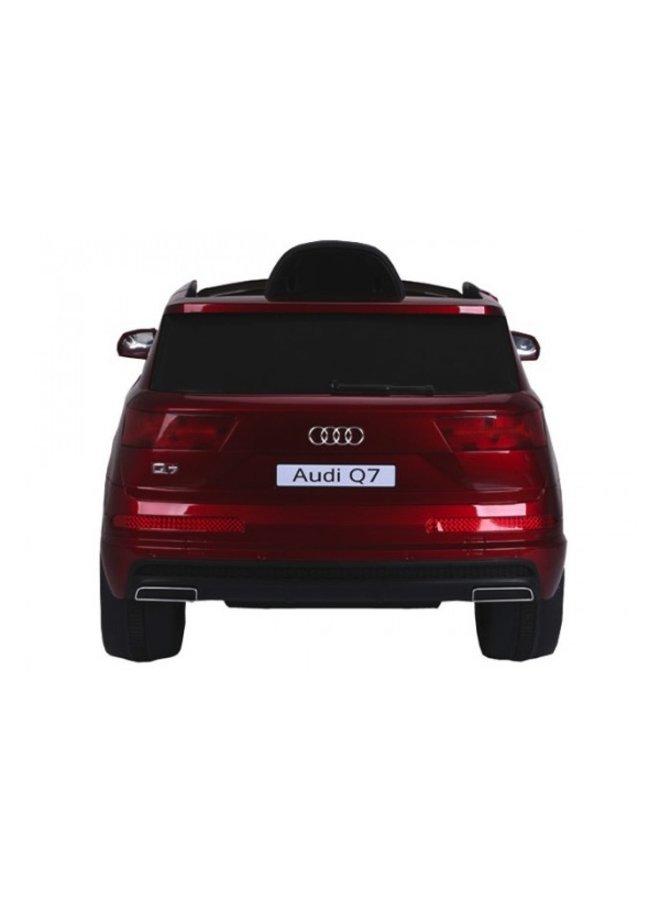 Audi Q7 12v, muziekmodule, lederen stoel, rubberen EVA-banden (JJ2188) (hoogglans rood)