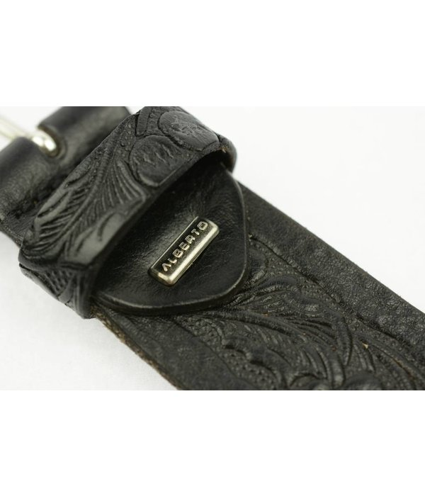 Alberto riemen Elegante zwarte retro herenriem