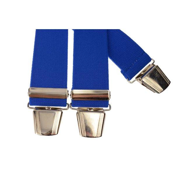 Cobalt blauwe uni bretel