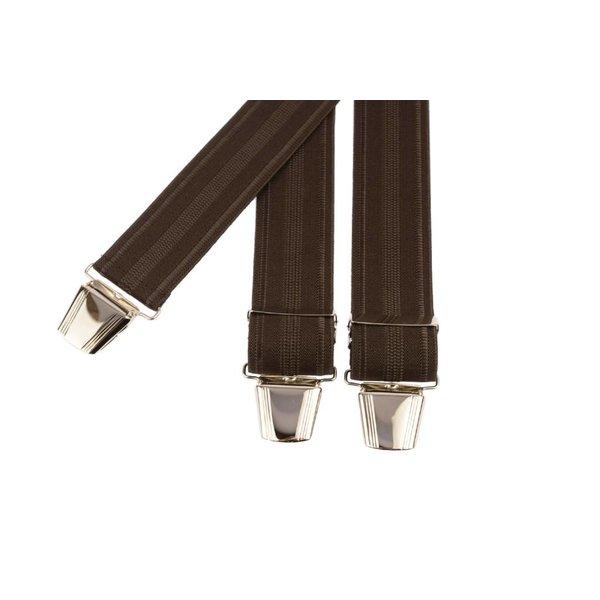 Bruine bretels met lichtbruine strepen