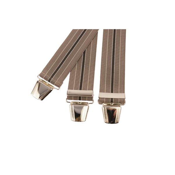 Bruin gestreepte bretels