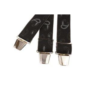 Zwarte bretels met mooi grijs dessin