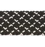 Alberto riemen Luxe zwart-witte webbing elastische riem