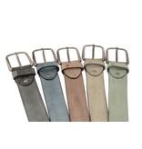 Alberto riemen Luxe riem met vakjes in lichtgrijze kleur