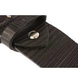 Alberto riemen Luxe herenriem met unieke structuur in zwarte kleur