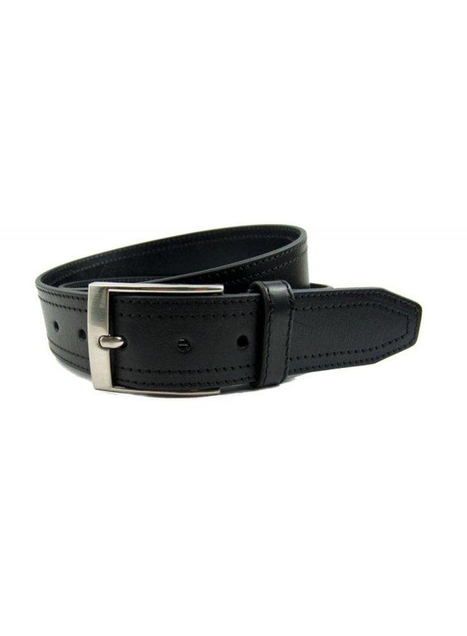 Pantalon-riem dubbel gestikt kleur zwart
