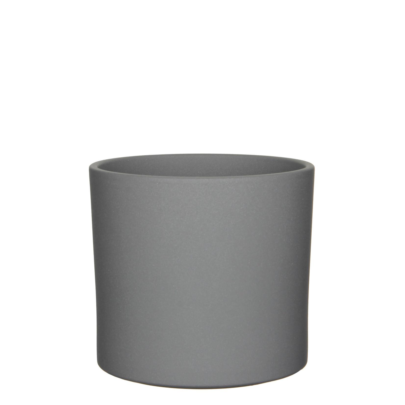Era pot round grey sand - h21,5xd23cm