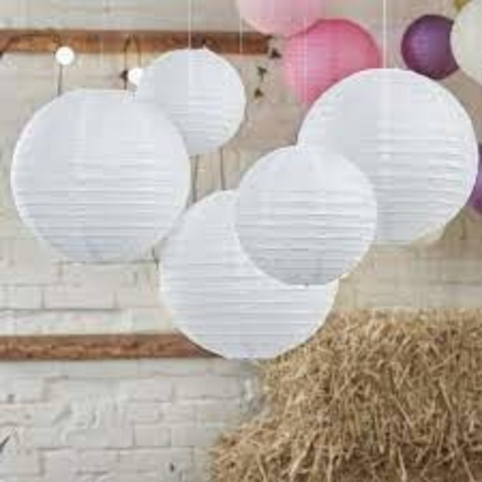 paper lanterns white