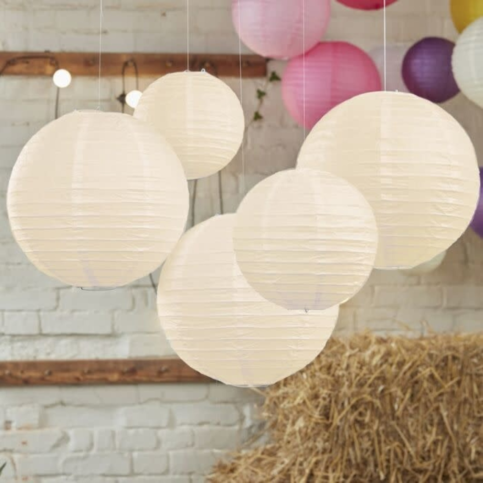 paper lanterns ivory