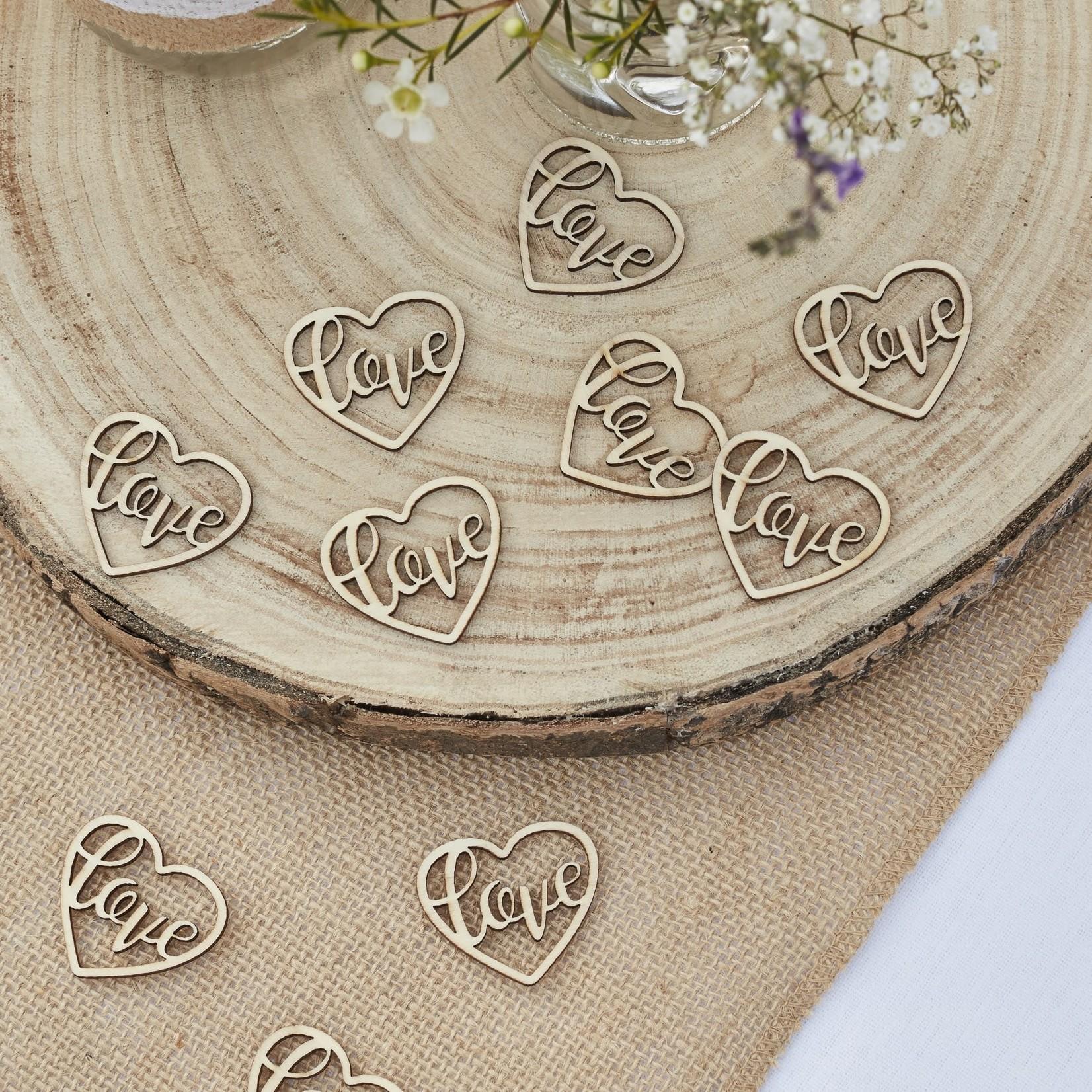 Confetti - Wooden - Hearts