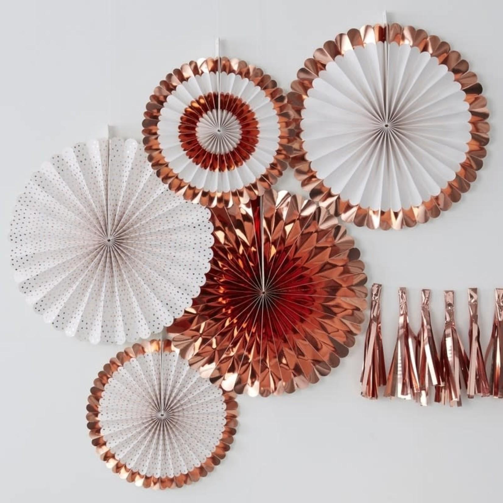 Fan Decorations - Rose Gold