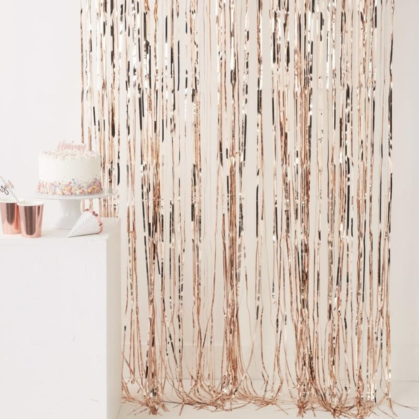 Fringe Curtain - Rose Gold