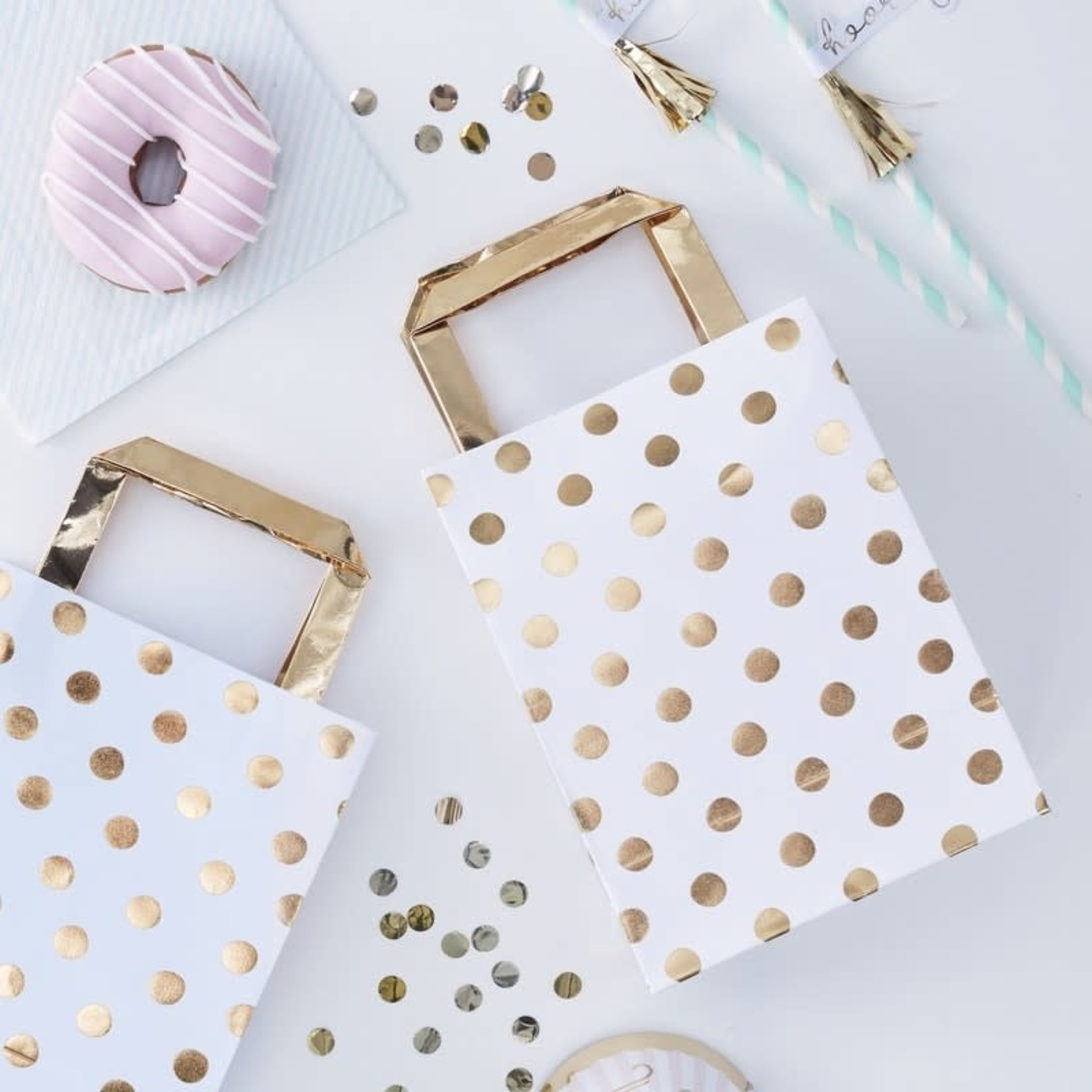 Party Bags - Gold Spots