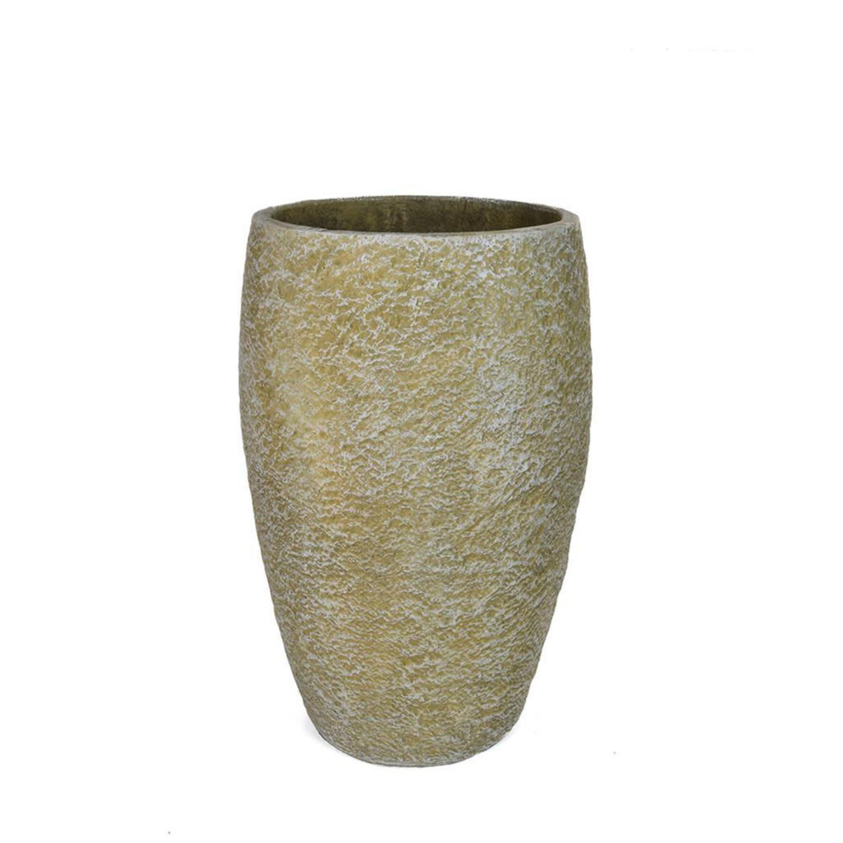 V-Pot Tall Rnd Granite Soil R 37x37x57cm
