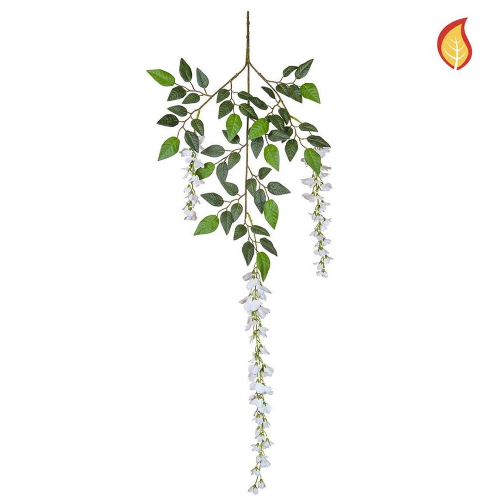 Foliage Wisteria White PI 110cm - Fire Rated