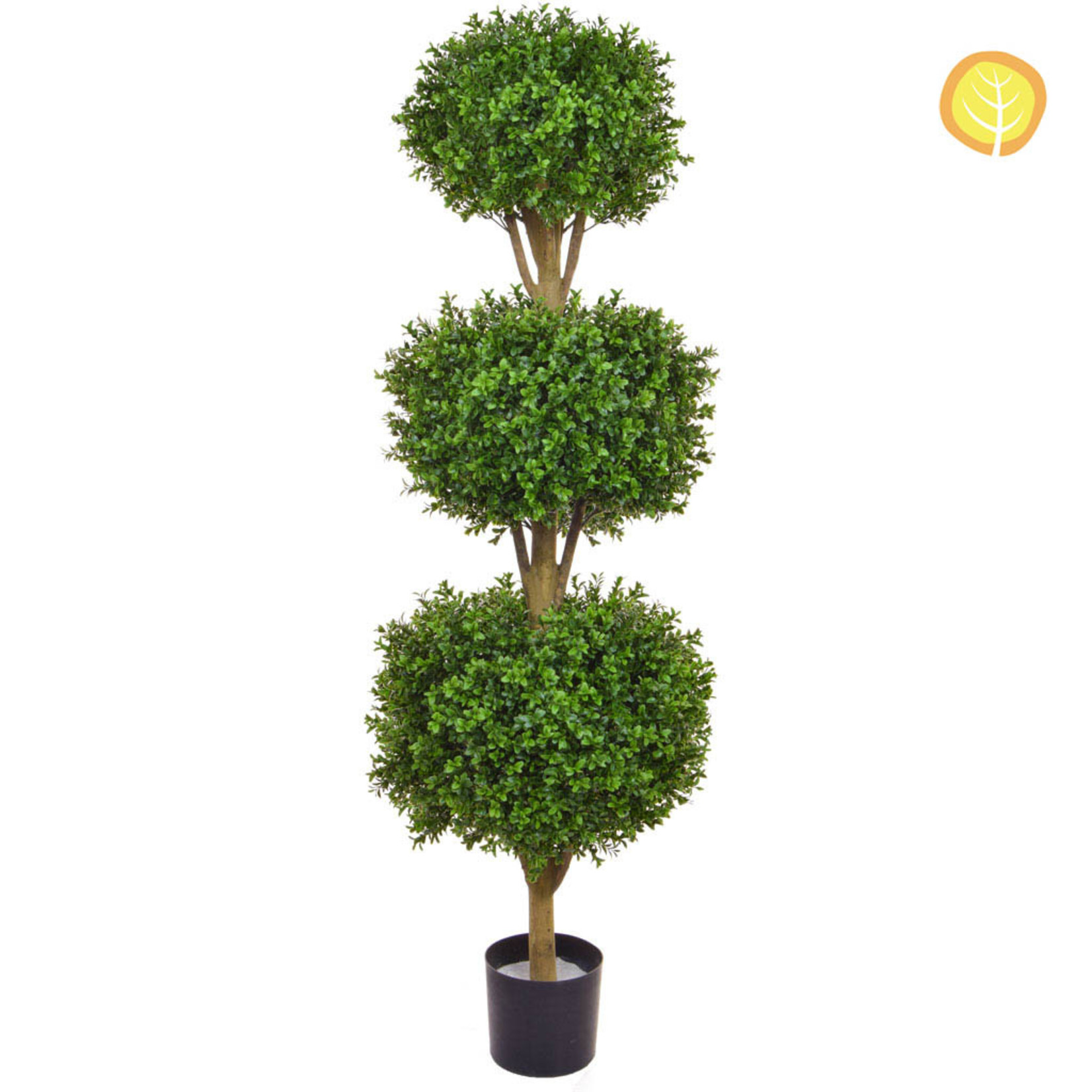 Topiary New Buxus Triple Ball 120cm - UV Resistant