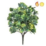 Plants Base Boxwood Grn/Yell PI 40cm- UV Resistant & Fire Rated