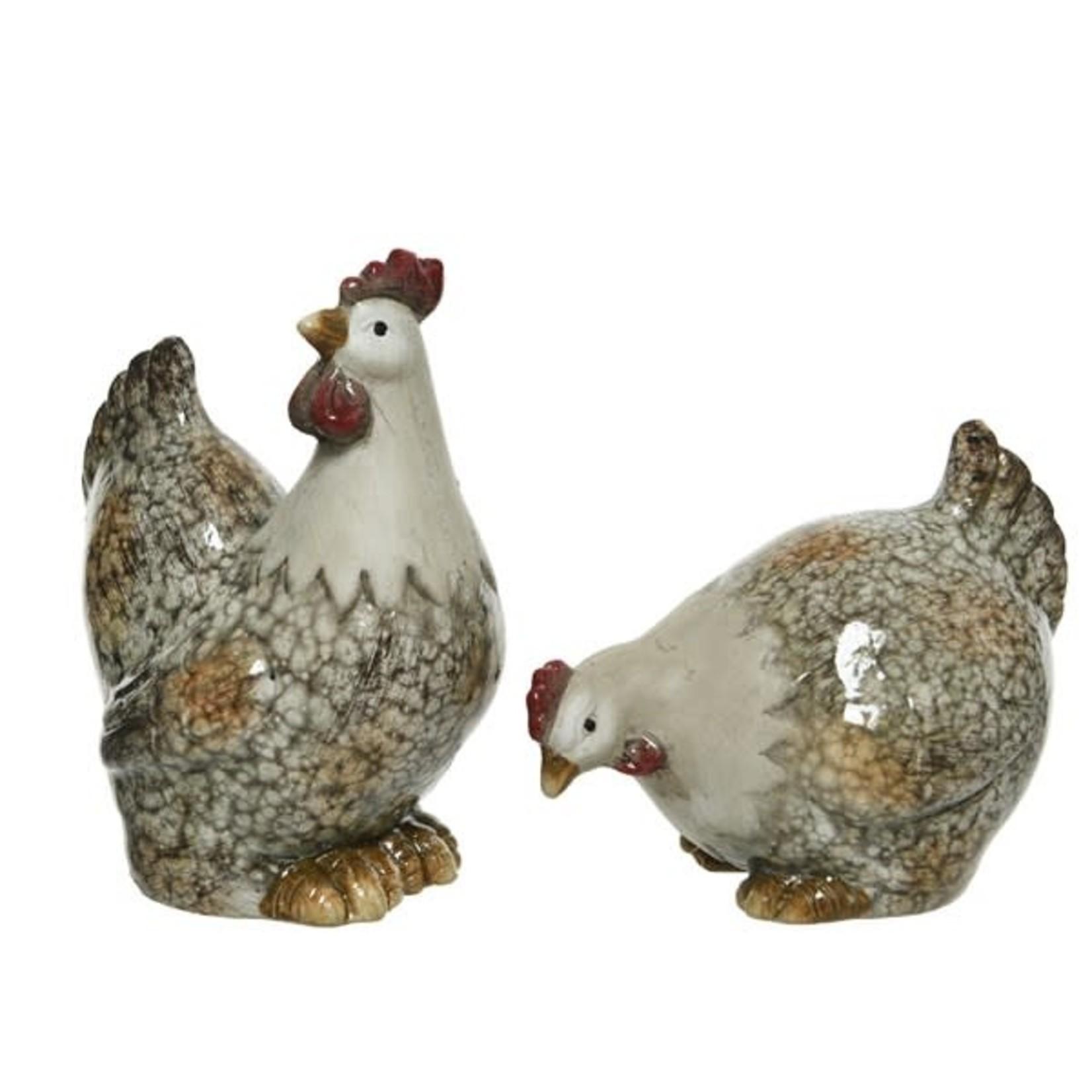 Rooster terracotta Medium