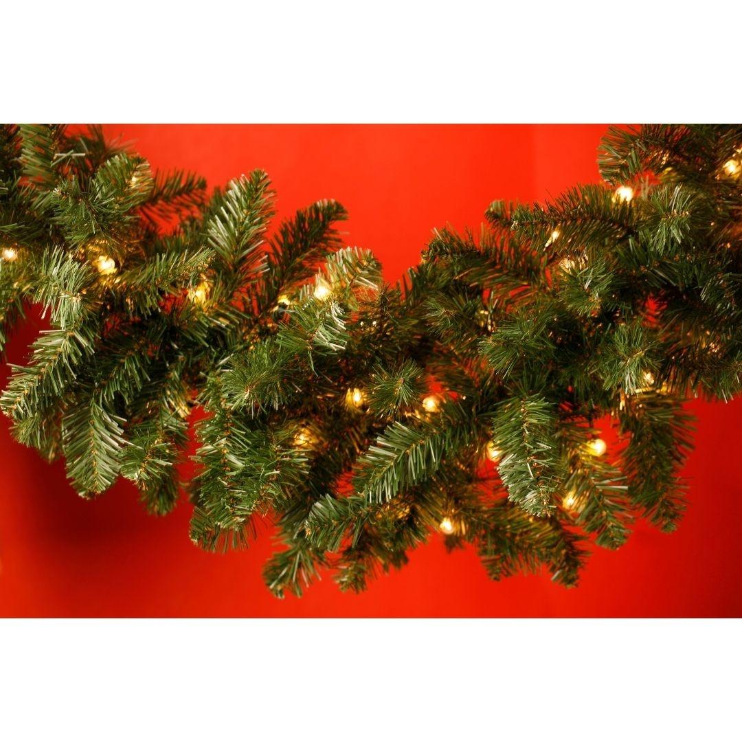 Kerst guirlande met verlichting