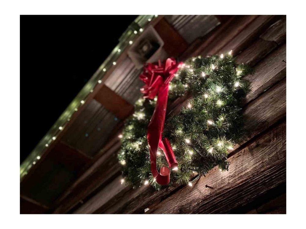Kerstkransen met verlichting