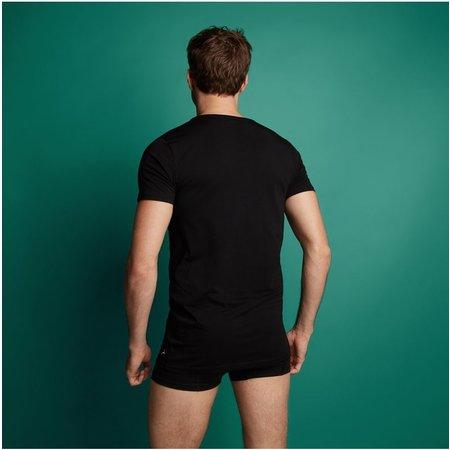 Ten Cate Heren Basic T-shirt - 2-Pack- Zwart - Extra lang