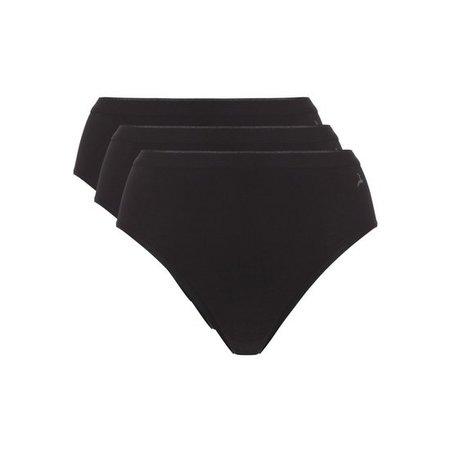Ten Cate Dames Highleg slip 3-Pack - Zwart