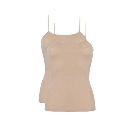 Ten Cate Dames Hemd 2-Pack - Huidskleur