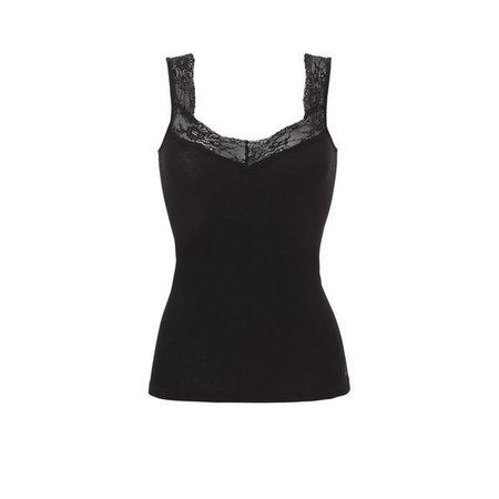 Ten Cate Dames Hemd Lace 2-Pack - Zwart