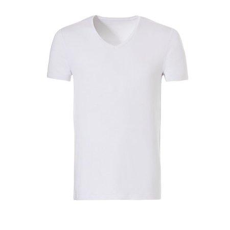 Ten Cate Heren Bamboe V-shirt - Wit