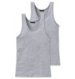 Schiesser Heren Hemd 2-pack Grijsmelange - Authentic
