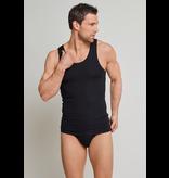 Schiesser Heren Hemd 2-pack Zwart - Authentic