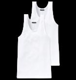 Schiesser Heren Hemd 2-pack Wit - Authentic