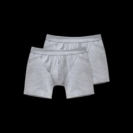 Schiesser Heren Short Met Gulp 2-pack Grijsmelange - Authentic