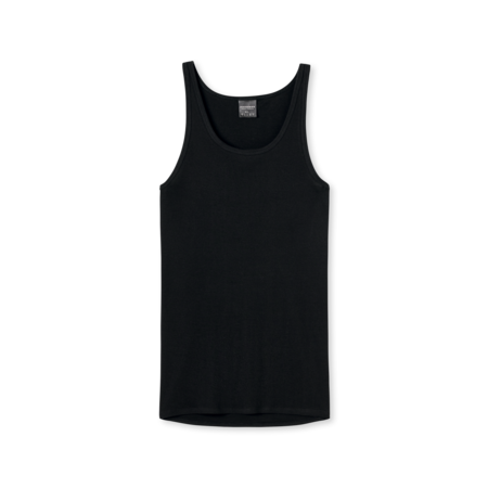 Schiesser Heren Hemd Zwart - Original Feinripp