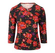 Shirt Micha rode bloem