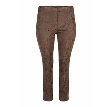 Stretch broek Robell taupe