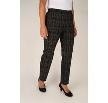 Stretch broek Robell zwart/ grijs