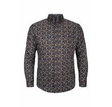 Overhemd Meantime bordeaux / blauw