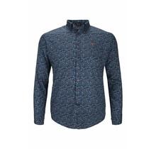 Overhemd Chris Cayne blauw gebloemd