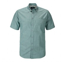 Overhemd met klittenbandsluiting groen