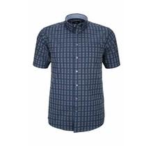 Overhemd met klittenbandsluiting blauw