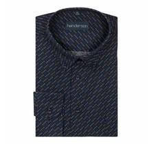 Overhemd Meantime marine / gele stip