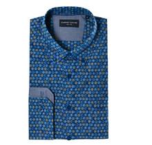 Overhemd blauw gestipt