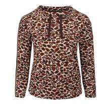 Shirt Barbara Lebek taupe / oranje