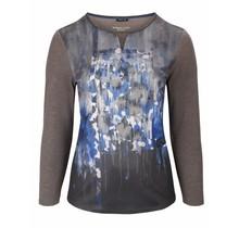 Shirt Barbara Lebek blauw/ grijs