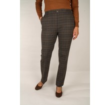 Pantalon Setter geruit bruin met elastische band
