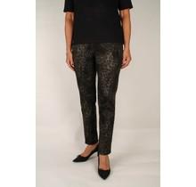 Robell stretch broek zwart / taupe
