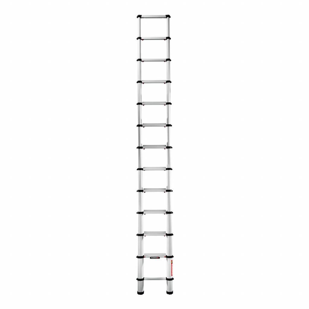 Anlege-Leiter 9190-101 Telesteps Classico-Serie silber