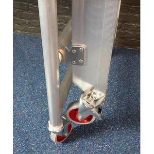 JUMBO JUMBO Rollgerüst, Zimmerfahrgerüst mit Treppe und Geländer, förderungsfähig durch BG Bau