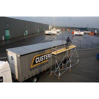 CUSTERS ® Eisfrei-Gerüst / Enteisungsgerüst für LKW, 6,20 m Länge